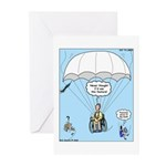 Wheelchair Parachute Greeting Cards (Pk of 10)
