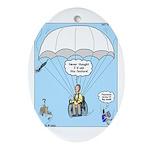 Wheelchair Parachute Ornament (Oval)