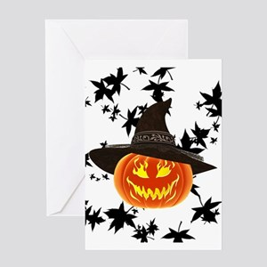 Grinning Pumpkin Greeting Cards