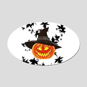 Grinning Pumpkin Wall Sticker