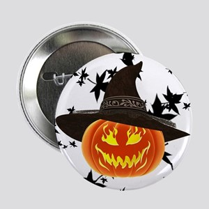 """Grinning Pumpkin 2.25"""" Button"""