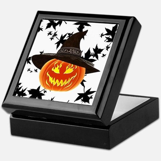 Grinning Pumpkin Keepsake Box