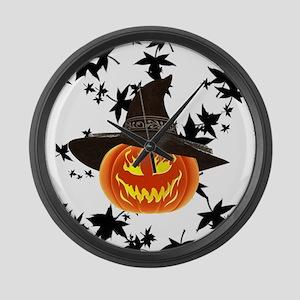 Grinning Pumpkin Large Wall Clock