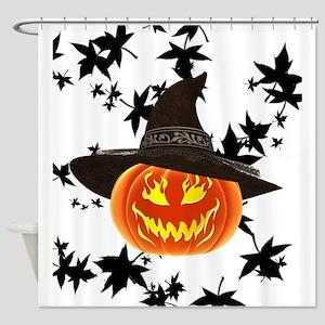 Grinning Pumpkin Shower Curtain