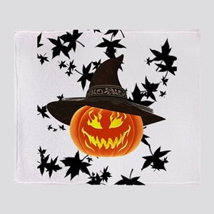 Grinning Pumpkin Throw Blanket