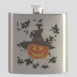 Grinning Pumpkin Flask