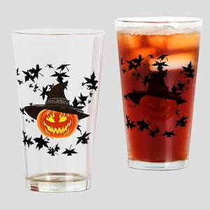Grinning Pumpkin Drinking Glass
