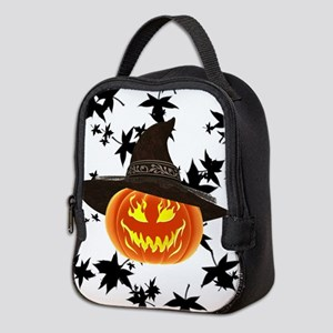 Grinning Pumpkin Neoprene Lunch Bag
