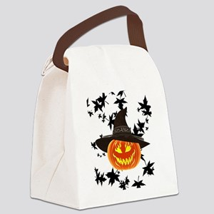 Grinning Pumpkin Canvas Lunch Bag