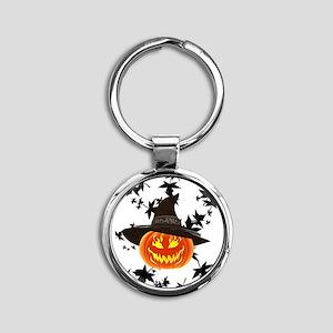 Grinning Pumpkin Keychains
