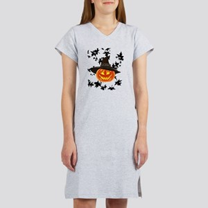 Grinning Pumpkin Women's Nightshirt