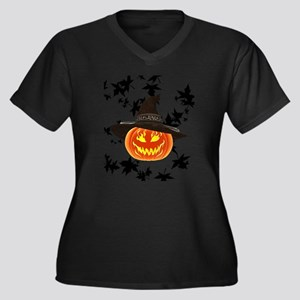 Grinning Pumpkin Plus Size T-Shirt