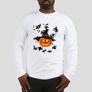 Grinning Pumpkin Long Sleeve T-Shirt
