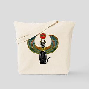 Ornate Eqyptian Cat Godess Tote Bag