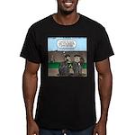 Monkey Hospitality Men's Fitted T-Shirt (dark)