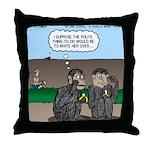 Monkey Hospitality Throw Pillow