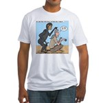 Monkey Grooming Fitted T-Shirt