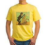 Monkey Grooming Yellow T-Shirt