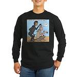 Monkey Grooming Long Sleeve Dark T-Shirt