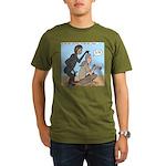 Monkey Grooming Organic Men's T-Shirt (dark)