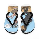Monkey Grooming Flip Flops