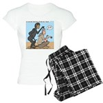 Monkey Grooming Women's Light Pajamas