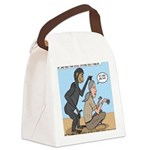 Monkey Grooming Canvas Lunch Bag