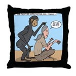 Monkey Grooming Throw Pillow