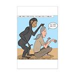 Monkey Grooming Mini Poster Print