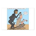 Monkey Grooming Postcards (Package of 8)