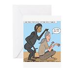Monkey Grooming Greeting Cards (Pk of 10)