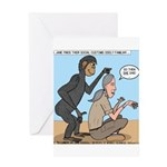 Monkey Grooming Greeting Card