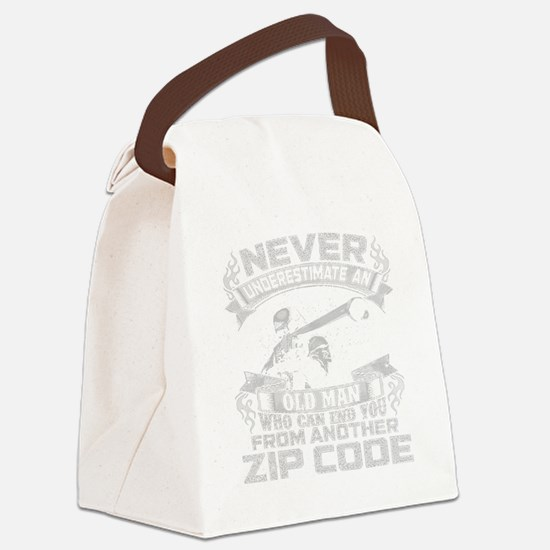Funny Never Canvas Lunch Bag