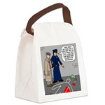 Murder Mystery Canvas Lunch Bag