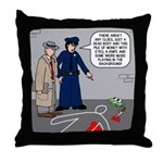 Murder Mystery Throw Pillow