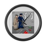 Murder Mystery Large Wall Clock