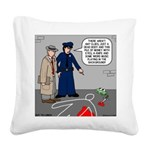Murder Mystery Square Canvas Pillow