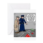 Murder Mystery Greeting Card