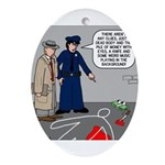 Murder Mystery Ornament (Oval)