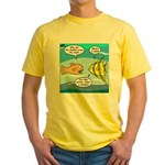 Stupid Fish Jokes Yellow T-Shirt