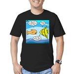 Stupid Fish Jokes Men's Fitted T-Shirt (dark)