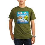Stupid Fish Jokes Organic Men's T-Shirt (dark)