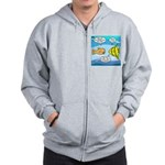 Stupid Fish Jokes Zip Hoodie