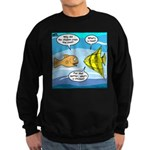 Stupid Fish Jokes Sweatshirt (dark)