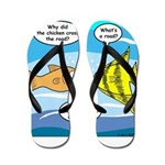 Stupid Fish Jokes Flip Flops