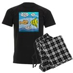 Stupid Fish Jokes Men's Dark Pajamas