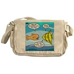 Stupid Fish Jokes Messenger Bag