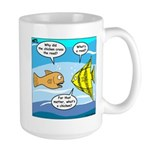 Stupid Fish Jokes Large Mug