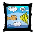 Stupid Fish Jokes Throw Pillow