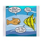 Stupid Fish Jokes Throw Blanket